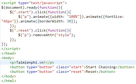 chaining in jquery