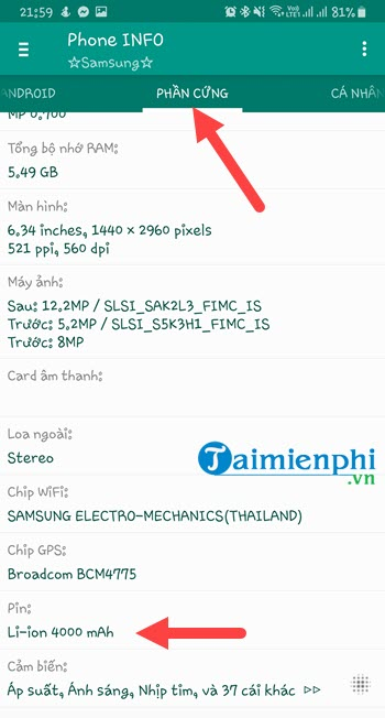 Check the Samsung battery bottle check the battery life of Samsung battery 6