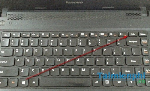 Take a picture of Lenovo laptop screen