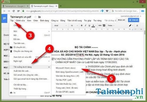 How to convert pdf files to Word in Google Docs