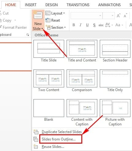 How to convert word to powerpoint