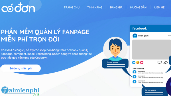 codon vn cong ly quan ly hang fanpage ly tuong shop for chu shop