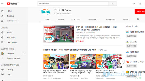 YouTube Channel List for Youngest Children 4