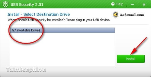 Install password to USB with USB Sercurity