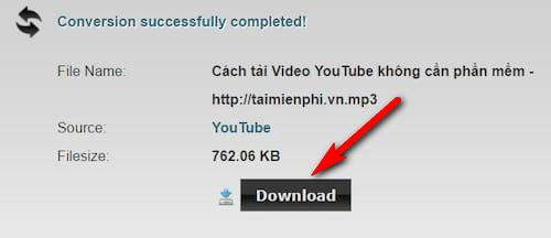 Download mp3 music from YouTube without software