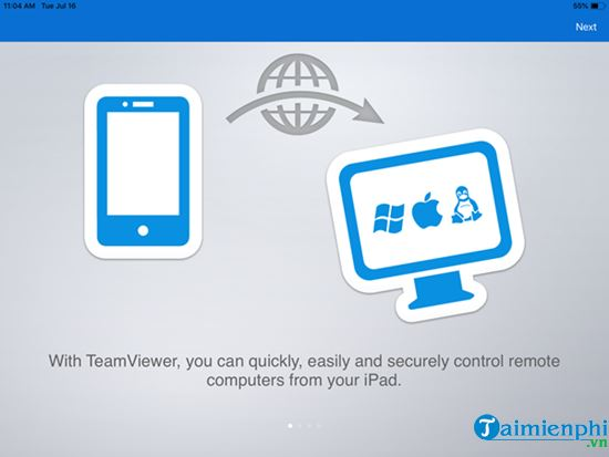 remote control Teamviewer remote on iOS 3