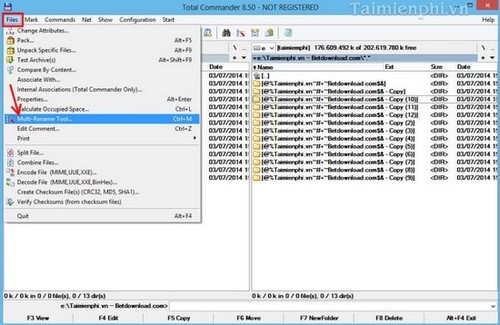 How to change multiple files at the same time