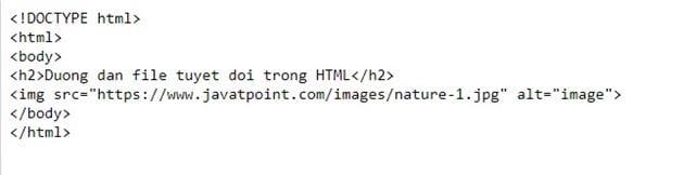 file path in html 3