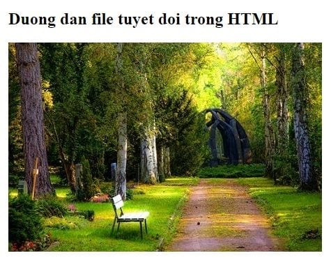 file path in html 4