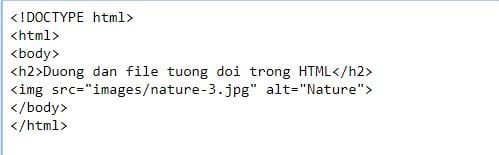 file path in html 8