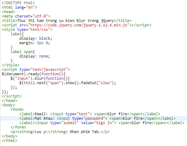 Events in jquery 22