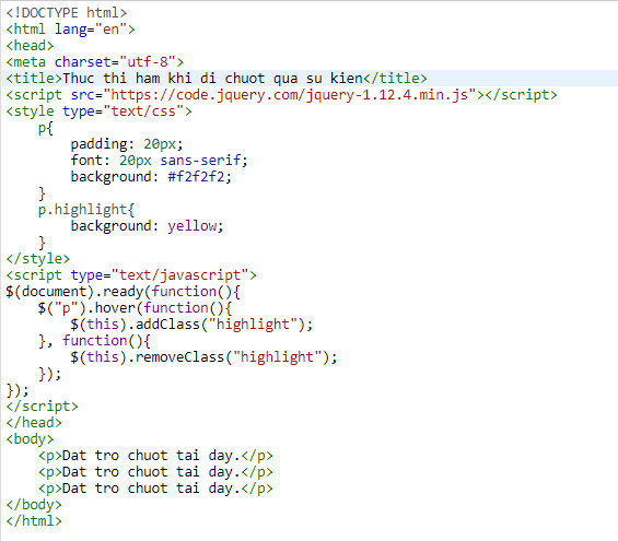Events in jquery 6