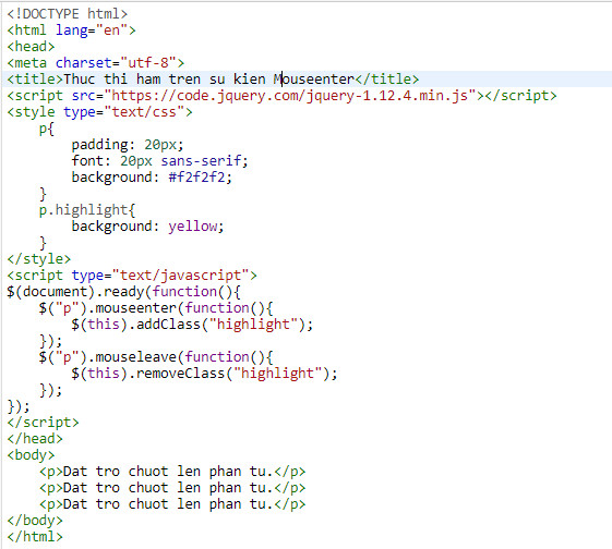 events in jquery 8