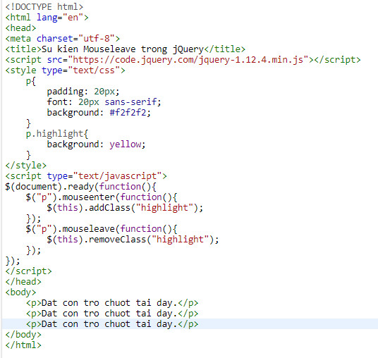 Events in jquery 10