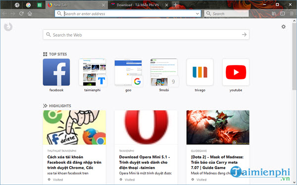 firefox quantum ton it ram better interface new tab many options 12