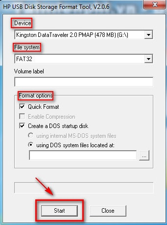 how to format usb