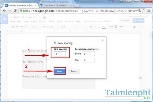 Approach is an easy way in google docs