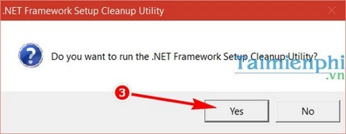 Remove the net framework on the computer