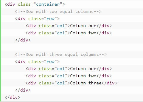 grid system in bootstrap 4