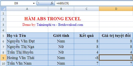 All calculations in excel 2016