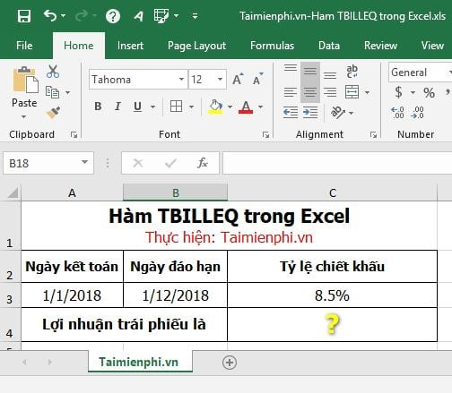 ham tbilleq in excel 3
