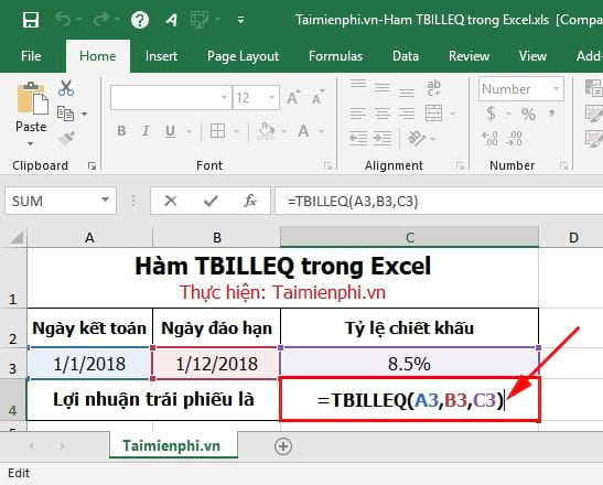 ham tbilleq in excel 4
