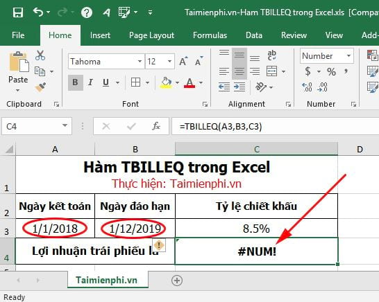 ham tbilleq in excel 6