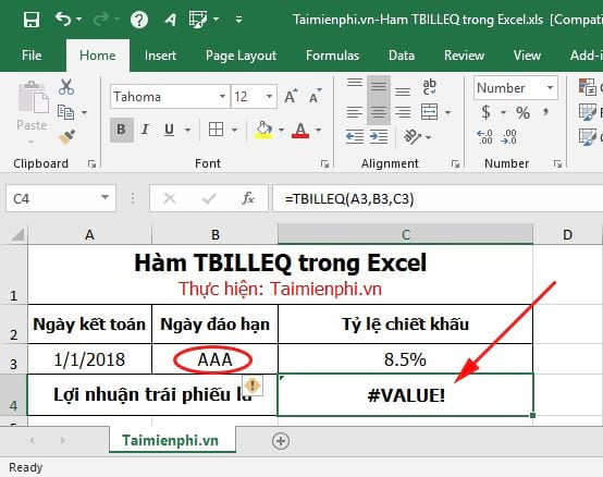 ham tbilleq in excel 7