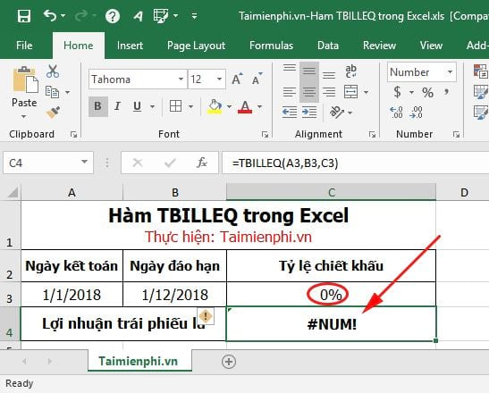 ham tbilleq in excel 8