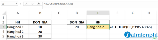 How to use Xlookup in Excel 3?