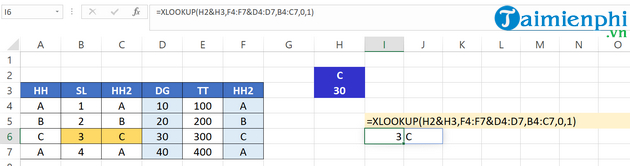 How to use Xlookup in Excel 6?