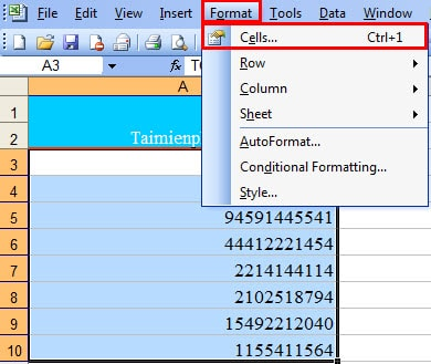 show how to sort in Excel