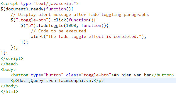 Understanding fade in and fade out in jquery 11