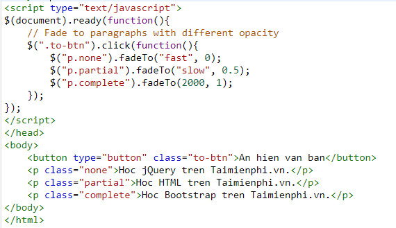 Understanding fade in and fade out in jquery 13