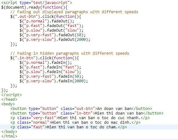 Understanding fade in and fade out in jquery 3