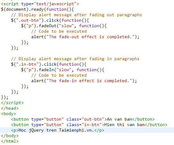 Understanding fade in and fade out in jquery 5