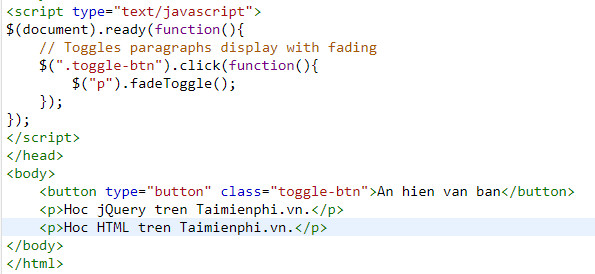 Understanding fade in and fade out in jquery 7