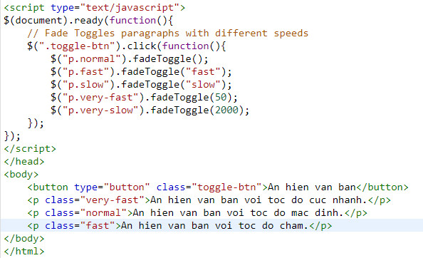 Understanding fade in and fade out in jquery 9