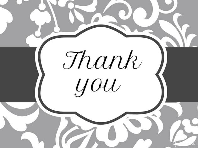 Powerpoint wallpaper thank you thank you for finishing slide 12