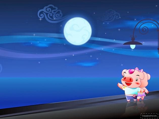 Professional PowerPoint powerpoint wallpaper for Mid-Autumn Festival