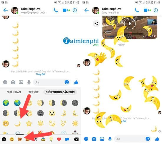 How to change the interface to dark mode on messenger 4
