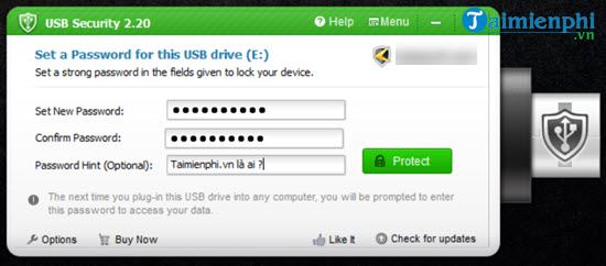 How to set up a USB password for USB flash drive 5