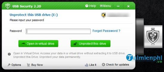 How to set up a USB password for USB 7