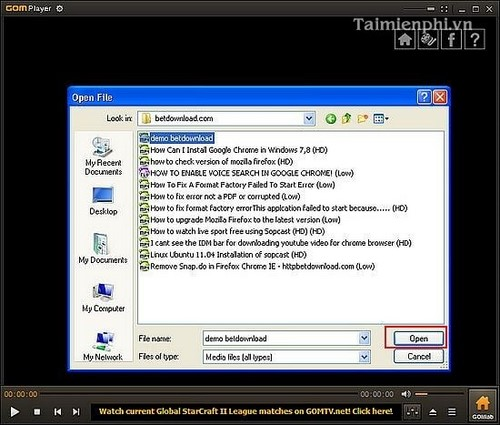 listen to music, watch videos by installing media player
