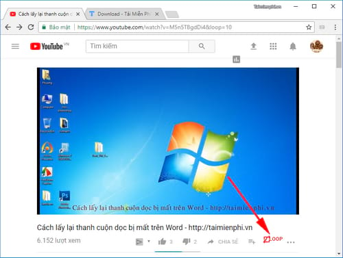 how to replay youtube videos from tu 7 7