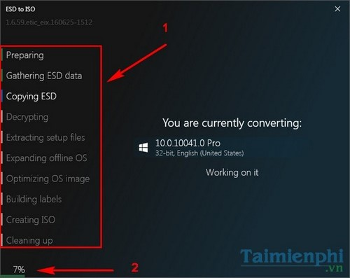 install esd to iso