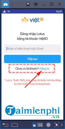 guide the user and use lotus on a computer when no phone 6