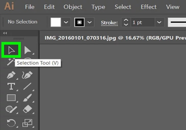 Guide and delete images in Adobe Illustrator 2