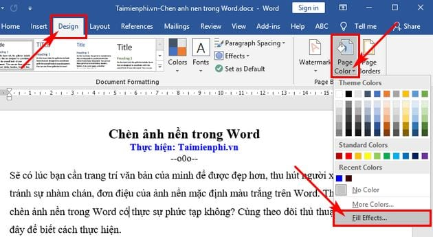 Guide to insert images in word 2