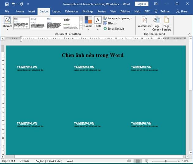 Guide to insert images in word 9